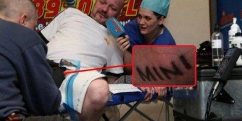 German man tattoos 'MINI' on his penis to win a Cooper