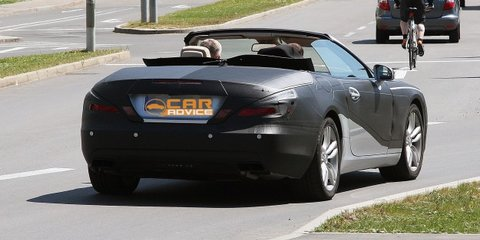 2012 Mercedes-Benz SL spy shots with top down