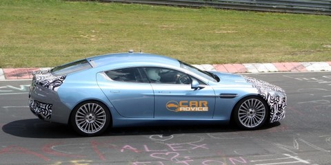 2012 Aston Martin Rapide S spied on the Nurburgring