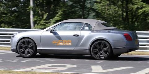2012 Bentley Continental GTC spy shots at Nurburgring