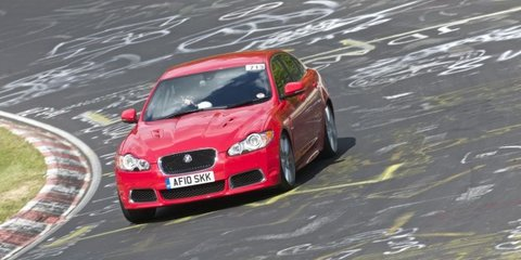 Jaguar XFR, XKR, XJ & XK track test at Nurburgring