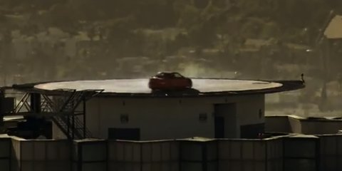 Video: BMW 1 Series M Coupe drifts on world's tallest helipad