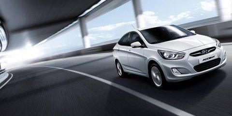 Hyundai Accent at Australian International Motor Show 2011