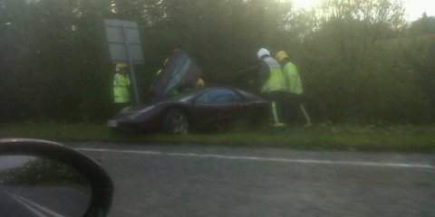 Mr Bean (Rowan Atkinson) crashes his McLaren F1
