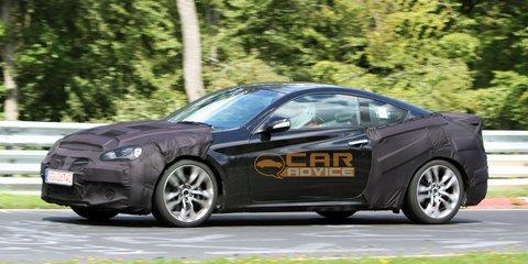 Hyundai Genesis Coupe Facelift Spy Photos