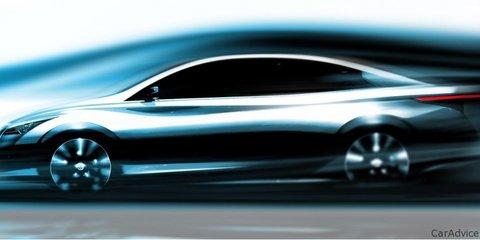 Infiniti electric sedan sketch at Frankfurt Motor Show