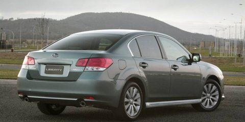 2012 Subaru Liberty gets standard reversing camera, full-size alloy spare