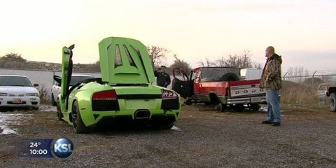 Man wins Lamborghini, crashes it six hours later