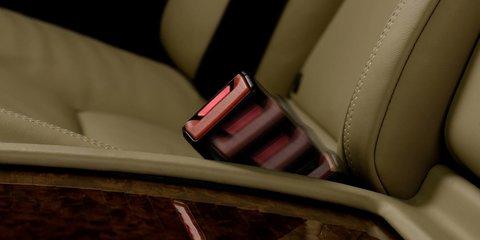 Mercedes-Benz clicks in active rear seatbelts