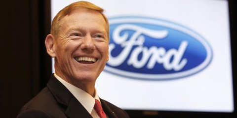 """Ford boss Mulally """"focused"""" despite reports of Microsoft switch"""