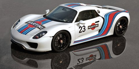 Porsche 918 Spyder: Martini Racing livery unveiled, interior spied