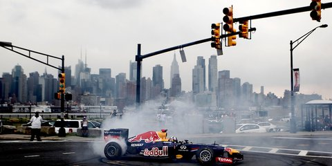 Red Bull Racing lights up New York with F1 car