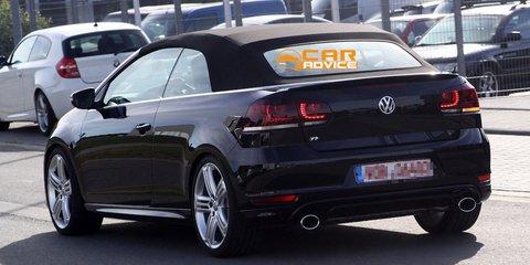 Volkswagen Golf R Cabriolet caught testing in near-production trim