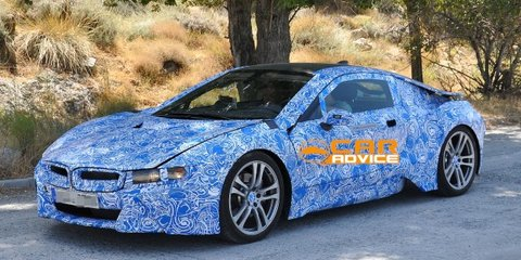 BMW i8: plug-in hybrid sports car spied hot-weather testing