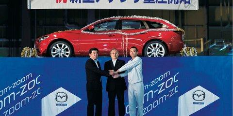 Mazda6 wagon revealed as Japanese production begins