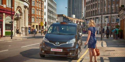 Nissan NV200 crashing the London black cab scene