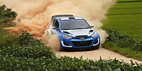 Hyundai i20 rally car on track for WRC return