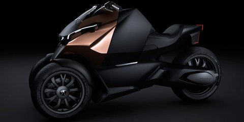 Peugeot Onyx Concept Scooter: hybrid three-wheeler revealed