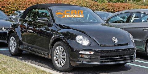 Volkswagen Beetle spied topless