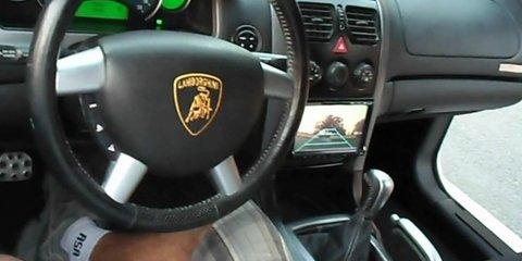 Holden Monaro converted into Lamborghini Aventador replica