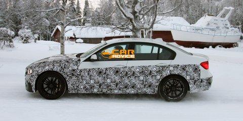 BMW M3 sedan spied winter testing