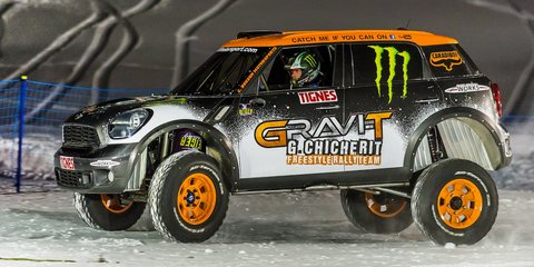 Mini John Cooper Works Countryman lands backflip snow stunt