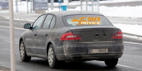 2013 Skoda Superb facelift spied
