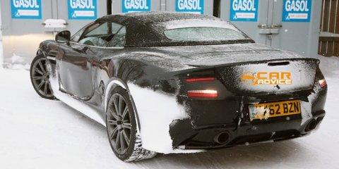 Aston Martin Vanquish Volante: soft-top-supercar spied in the snow
