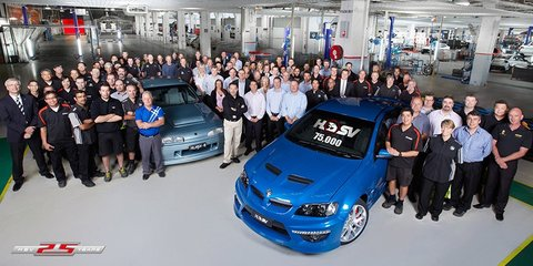 HSV builds its 75,000th car