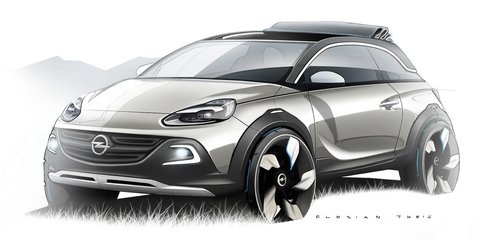 Opel Adam Rocks: sketches reveal city-sized crossover concept