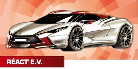 Sbarro React EV concept: French hybrid sports car teased