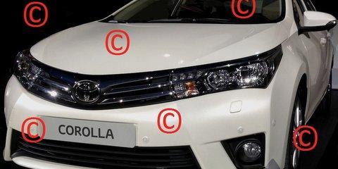 Toyota Corolla sedan revealed in leaked images