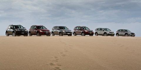 Compact SUV comparison: Mazda CX-5 v Toyota RAV4 v Subaru Forester v Honda CR-V v Mitsubishi Outlander v Volkswagen Tiguan