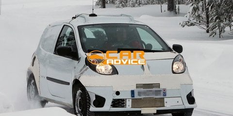 Smart Forfour snapped in Renault Twingo drag