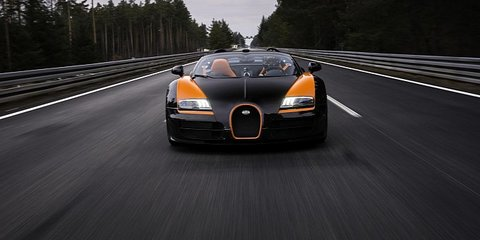 Bugatti Veyron Grand Sport Vitesse world record run: video