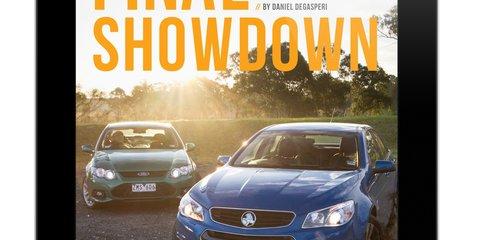 Holden VF Commodore SV6 v Ford Falcon XR6 headlines CarAdvice Magazine June