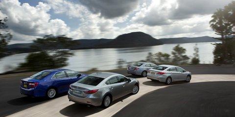 Medium Car Comparison: Mazda 6 V Toyota Camry V Honda Accord Euro V Hyundai  I40   Photos