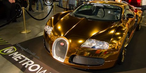 Bugatti Veyron gold wrapped for US rapper Flo Rida