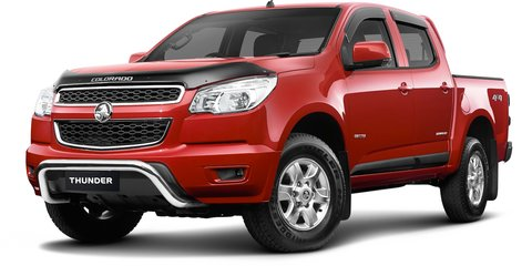 Holden Colorado Thunder: special edition utes released
