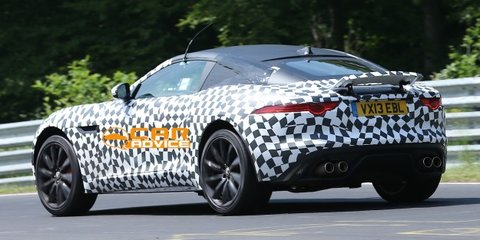 Jaguar F-Type coupe spied testing at Nurburgring