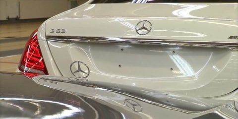 Mercedes-Benz S63 AMG spotted in official production video
