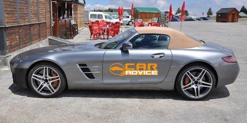 Mercedes-Benz SLS AMG successor test mule spied