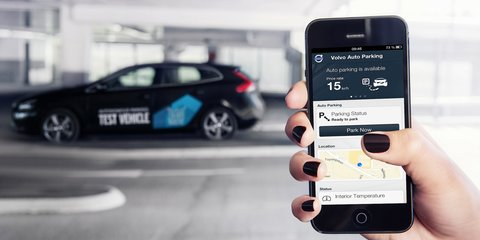Volvo car that parks itself via smartphone