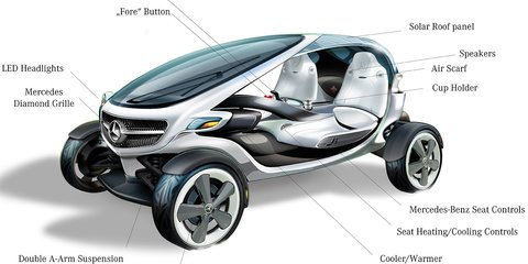 Mercedes-Benz Vision Golf Cart unveiled at British Open