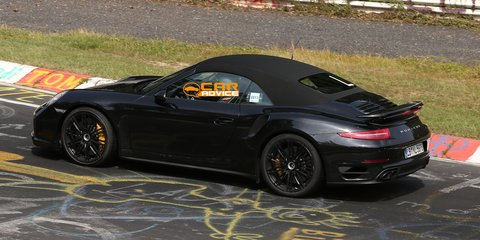 Porsche 911 Turbo Convertible spied lapping Nurburgring