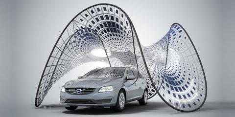 Volvo V60 plug-in hybrid helps debut portable charging pavilion