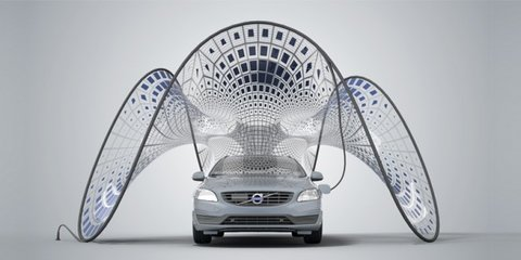 Volvo V60 plug-in hybrid helps debut portable charging pavilion