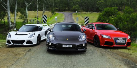 Sports car comparison: Porsche Cayman v Audi TT RS v Lotus Exige S