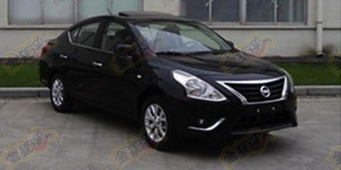 Nissan Almera facelift spied in China