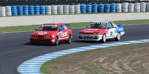 Classic V8 supercars return to the track